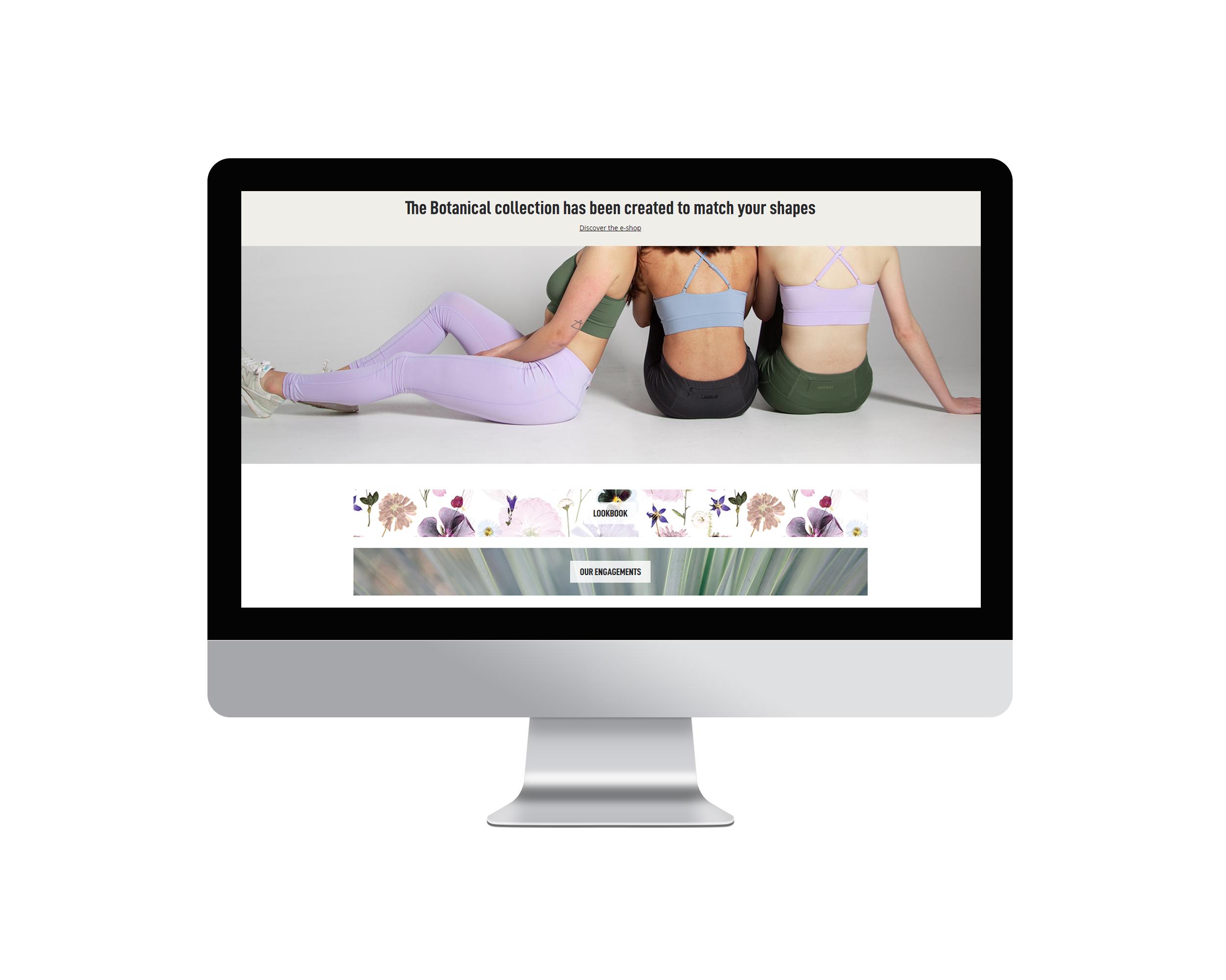L'image représente des mockups du site web de Masspin Studio